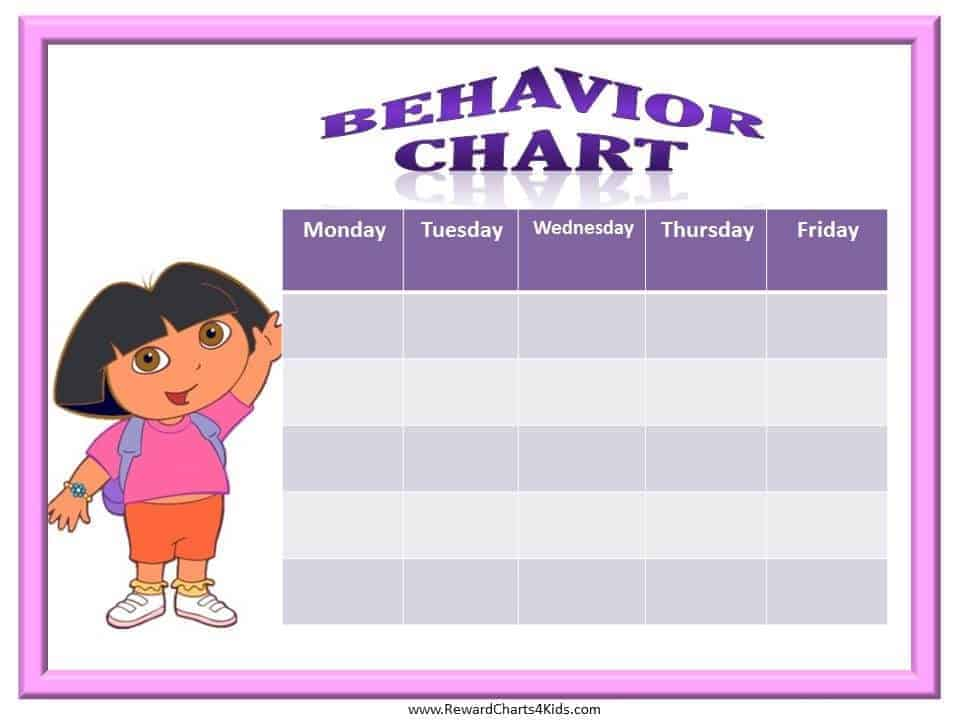 Good Behaviour Chart Template | New Calendar Template Site