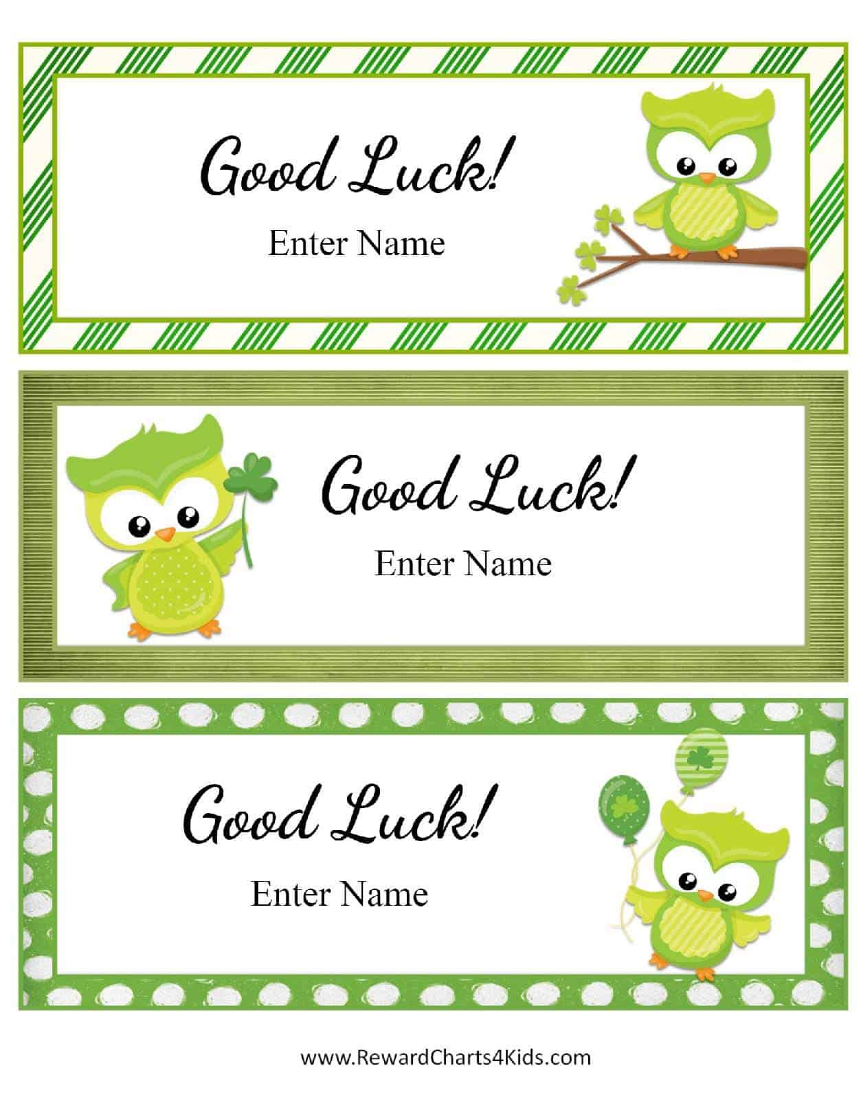 Similiar Good Luck Cards Printable For A Pageant Keywords
